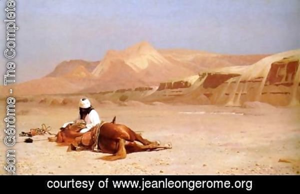 Jean-Léon Gérôme - The Arab and his Steed (or In the Desert)