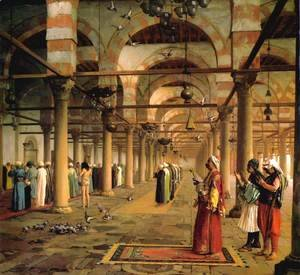 Jean-Léon Gérôme - Public Prayer in the Mosque of Amr, Cairo