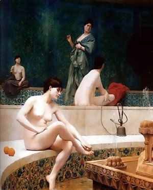 Jean-Léon Gérôme - A Bath, Woman Bathing Her Feet (or Harem Pool)
