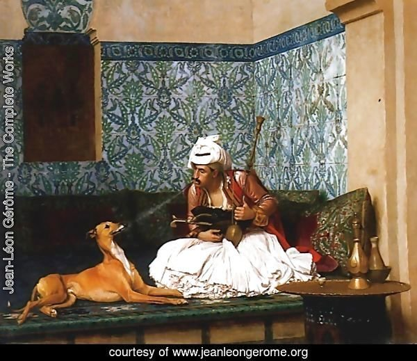 Une Plaisanterie (A Joke) (or Arnaut blowing Smoke at the Nose of his Dog)