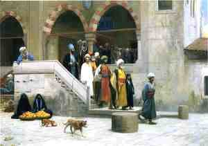 Jean-Léon Gérôme - Leaving the Mosque