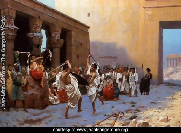 The Pyrrhic Dance (or Sword Dance Before Egyptian Ruins)