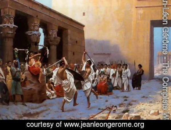 Jean-Léon Gérôme - The Pyrrhic Dance (or Sword Dance Before Egyptian Ruins)