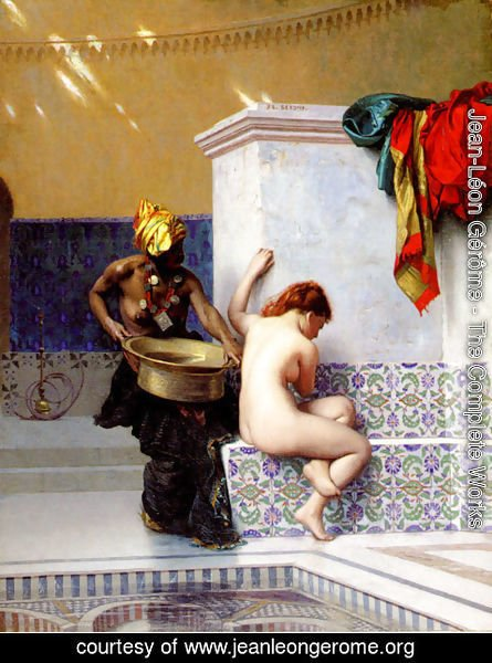 Jean-Léon Gérôme - Bain turc ou Bain maure (deux femmes) (Turkish Bath or Moorish Bath (Two Women))