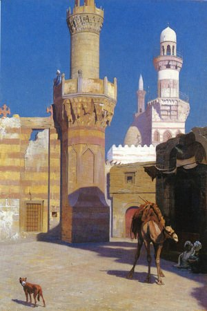 Jean-Léon Gérôme - Une Journee Chaud Au Caire (Devant La Mosquee) (A Hot Day in Cairo (In front of the Mosque))