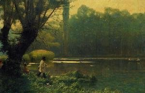 Jean-Léon Gérôme - Summer Afternoon on a Lake