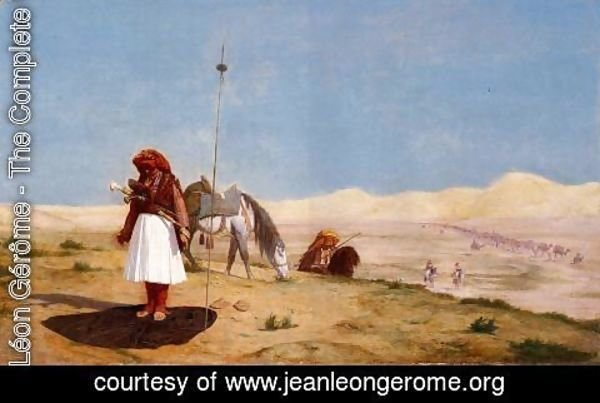 Jean-Léon Gérôme - Prayer in the Desert