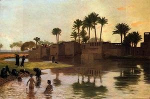 Jean-Léon Gérôme - Bathers by the Edge of a River