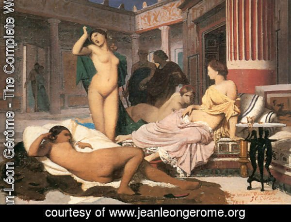 Jean-Léon Gérôme - Greek Interior [sketch]