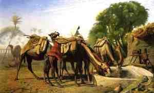 Jean-Léon Gérôme - Camels at a Watering Trough
