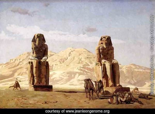 Memnon and Sesostris, (study)