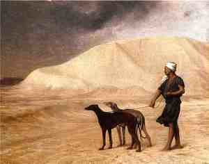 Jean-Léon Gérôme - Team of Dogs in the Desert