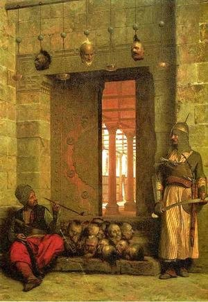 Jean-Léon Gérôme - The Door of the El-Hassanein Mosque in Cairo