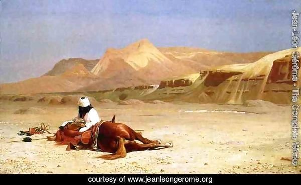 An Arab and His Horse in the Desert