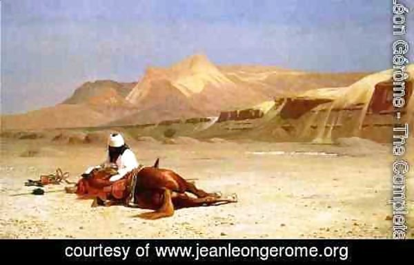 Jean-Léon Gérôme - An Arab and His Horse in the Desert