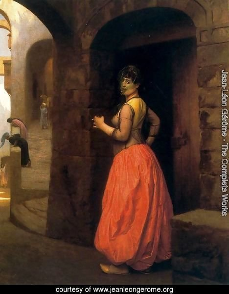 Woman from Cairo, Smoking a Cigarette