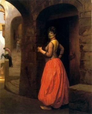 Jean-Léon Gérôme - Woman from Cairo, Smoking a Cigarette