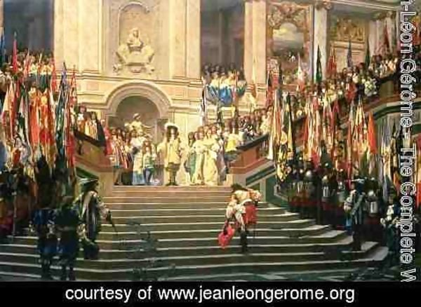 Jean-Léon Gérôme - The Reception for Prince Conde at Versailles