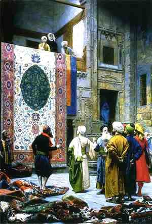 Jean-Léon Gérôme - Carpet Merchant in Cairo