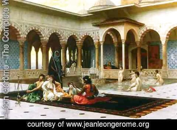 Jean-Léon Gérôme - The Harem on the Terrace