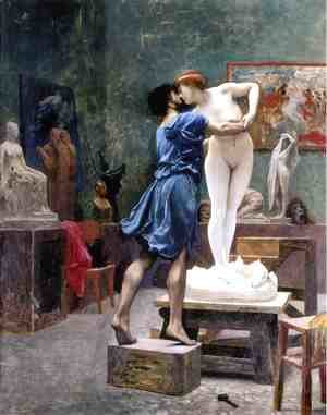 Pygmalion and Galatea (study)