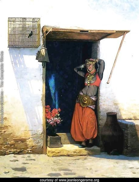 Woman from Cairo at Her Door