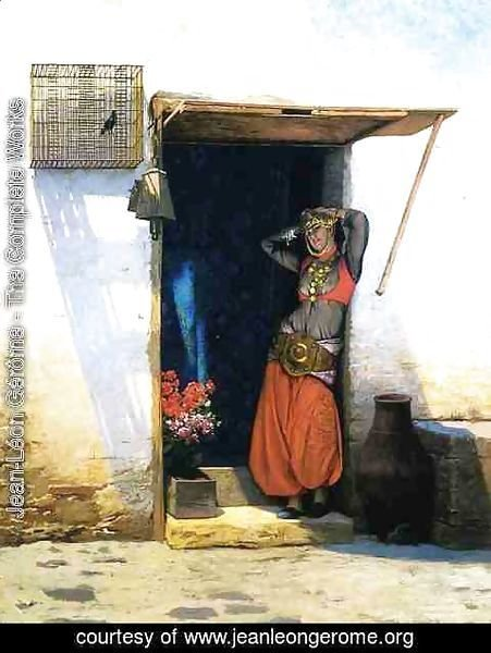 Jean-Léon Gérôme - Woman from Cairo at Her Door