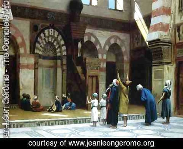 Jean-Léon Gérôme - Prayer in the Mosque of Caid Bey, in Cairo