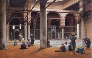 Jean-Léon Gérôme - Interior of a Mosque