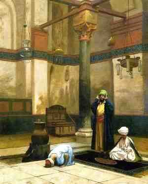 Jean-Léon Gérôme - Three Worshippers Praying in a Corner of a Mosque