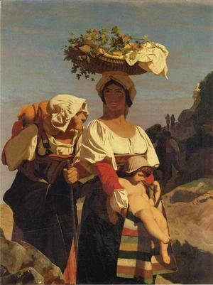 Jean-Léon Gérôme - Two Italian Peasant Women and an Infant