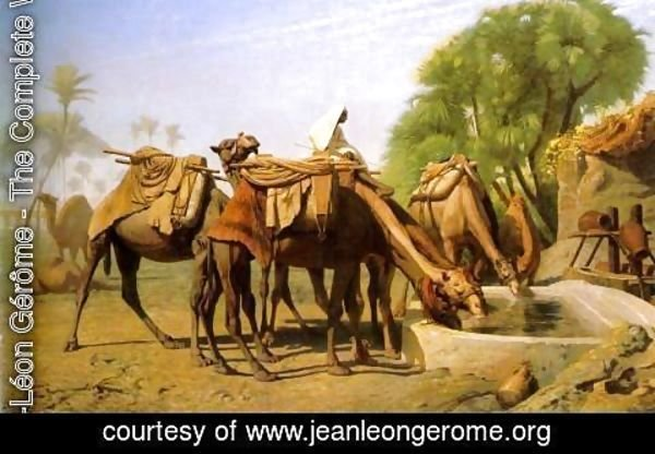Jean-Léon Gérôme - Camels at the Trough