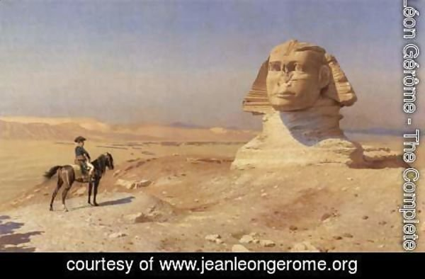 Jean-Léon Gérôme - Bonaparte Before the Sphinx