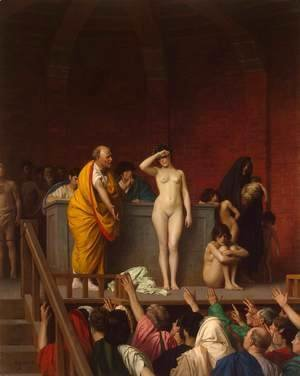 Slave Auction or Slave Market in Rome