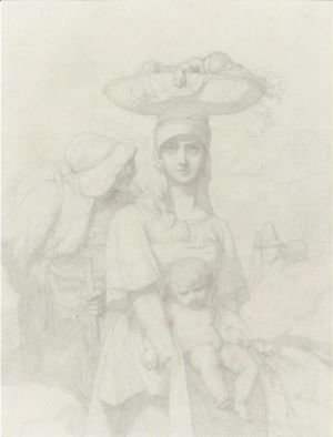 Two Italian Peasants And A Child