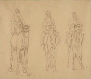 Study Of Bedouins On Camels