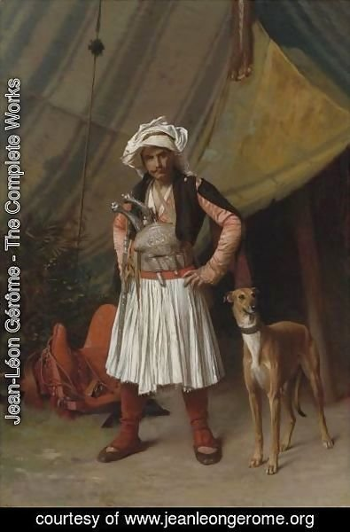 Jean-Léon Gérôme - A Bashi-Bazouk And His Dog