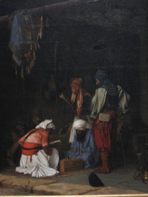 Jean-Léon Gérôme - Turkish Bashi Bazouk Mercenaries Playing Chess in a Market Place