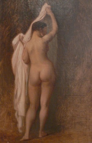 Nude from behind (Study for King Candaule)