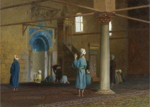 Jean-Léon Gérôme - Prayer in the Mosque 2