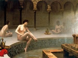Jean-Léon Gérôme - A Bath, Woman Bathing Her Feet