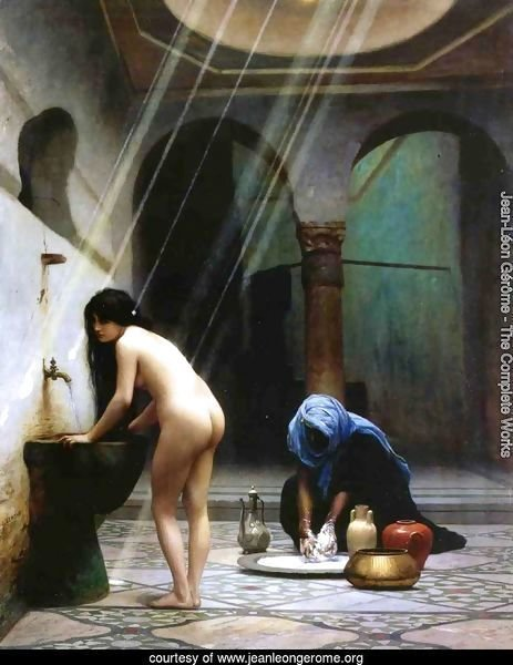 A Moorish Bath   Turkish Woman Bathing No 2