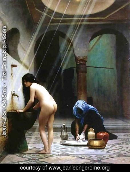 Jean-Léon Gérôme - A Moorish Bath   Turkish Woman Bathing No 2
