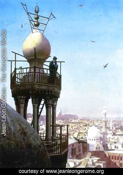 Jean-Léon Gérôme - A Muezzin Calling From The Top Of A Minaret The Faithful To Prayer