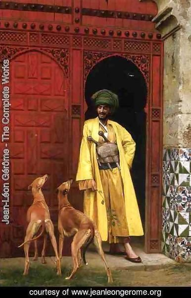 Jean-Léon Gérôme - An Arab And His Dogs