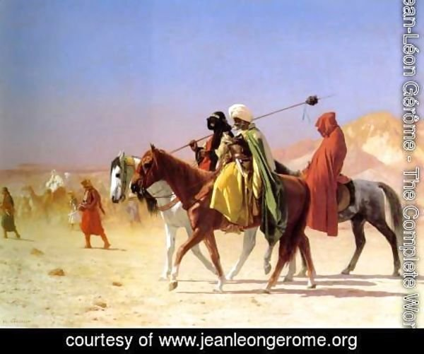 Jean-Léon Gérôme - Arabs Crossing The Desert