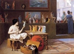 Jean-Léon Gérôme - Painting Breathes Life Into Sculpture Ii