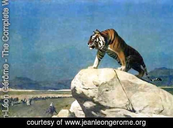 Jean-Léon Gérôme - Tiger On The Watch Ii