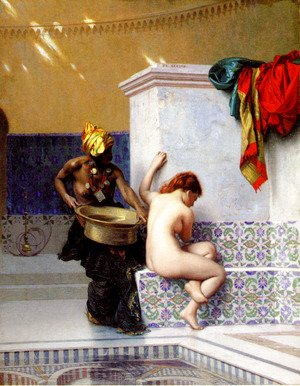 Jean-Léon Gérôme - Turkish Bath Or Moorish Bath   Two Women